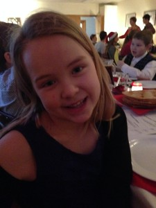 Tania and her Christmas dress